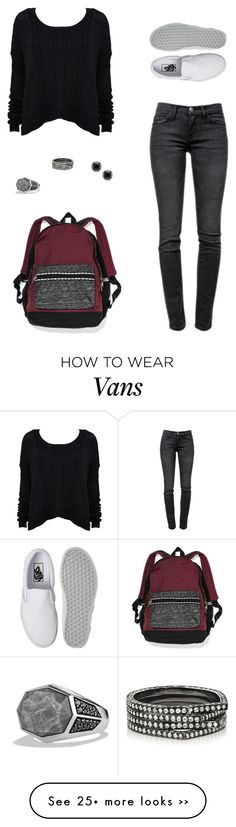 """Untitled #267"" by carolinamcury on Polyvore featuring Current/Elliott, Victoria's Secret, Repossi, David Yurman and Vans"