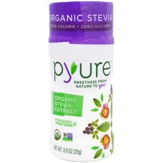 Pyure Brands, Organic Stevia Extract, Powdered Sweetener, 0.9 oz (25 g)