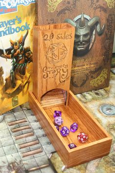 Hey, I found this really awesome Etsy listing at https://www.etsy.com/listing/177395803/solid-oak-dice-tower-for-truly-epic
