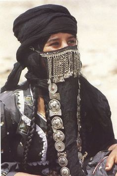 Saudi Arabia |  Veiled woman, unfortunately no details were provided from which region she is from.