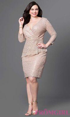 Вечерние и коктейльные платья для полных девушек американского бренда PromGirl…