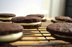 Homemade Oreo Cookies! No Santa hat needs for me! lol these could be dangerous :)