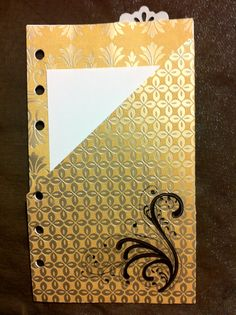 Pocket folder: card stock, sticker, glue, a tab and the metal hole punch is all that needed to make this pocketed page.  #dreamplanner  @FranklinPlanner
