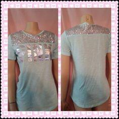 Victoria's Secret PINK Aqua Top! XS http://www.ebay.com/itm/Victorias-Secret-Pink-Aqua-Super-Bling-Tee-Shirt-Top-Heavily-Embellished-XS-/131500980985?utm_content=buffer40af3&utm_medium=social&utm_source=pinterest.com&utm_campaign=buffer #victoriassecret #pinknation #pink #fashionmagenet