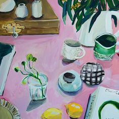Studio Table in Pink - Elizabeth Barnett