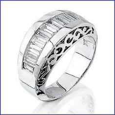 Gregorio 18K White Gold Ladies Diamond Ring (1.38 cttw, G-H color, VS-SI clarity)  Price : $5,900.00 http://www.blountjewels.com/Gregorio-White-Ladies-Diamond-clarity/dp/B009FRNVF0