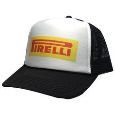 Vintage Pirelli Tires hat Trucker 80s adjustable snapback street racing cap black new unworn hat Nascar Hats, Baseball Hats, Nylons, Pirelli Tires, Snapback Hats, Trucker Hats, Branded Caps, 5 Panel Cap, Street Racing