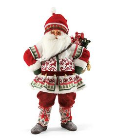 Look what I found on #zulily! Signature Nordic Santa Figurine by Department 56 #zulilyfinds