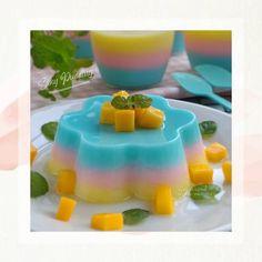 Resep silky puding © 2020 brilio.net Pudding Desserts, Pudding Recipes, No Bake Desserts, Donut Recipes, Snack Recipes, Snacks, Silky Pudding, Indonesian Desserts, Gelatin Recipes