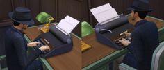 Mod The Sims: Vintage Typewriter  by Esmeralda • Sims 4 Downloads