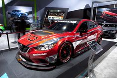 Our latest race-prepped, clean-diesel #Mazda6 on display at this year's #NAIAS. #Mazda