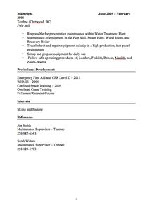 millwright resume sample httpresumesdesigncommillwright resume sample free resume sample pinterest free resume samples and sample resume