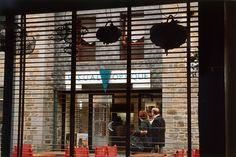 """Raymond Hains """"Place du Chai, de l'ensemble : Saint-Brieuc"""". Proposé par le FRAC Bretagne, à découvrir en gare de Saint-Brieuc, du 27 juin au 3 octobre 2013."""