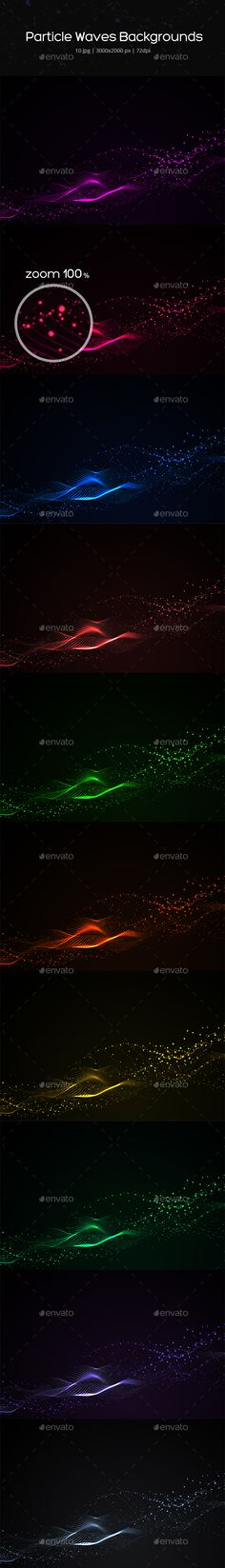 Particle Waves Backgrounds - Abstract Backgrounds