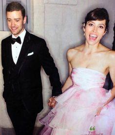 Actress Jessica Beil & Artist/Actor Justin Timberlake ~ October 19, 2012 #brideandgroom #celebritywedding  www.completeweddingradio.com