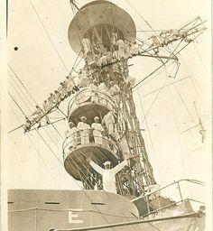 Partijen en verzamelingen Verzamelingen USS NEW JERSEY PAINTED IN CAMOUFLAGE CIRCA 1918-8X10 PHOTO EP-389