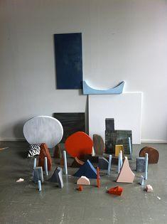 Jenni Rope - The Findings  Material: styrofoam, wood, canvas, acrylic paint  Mänttä Art Festival, Finland 2011