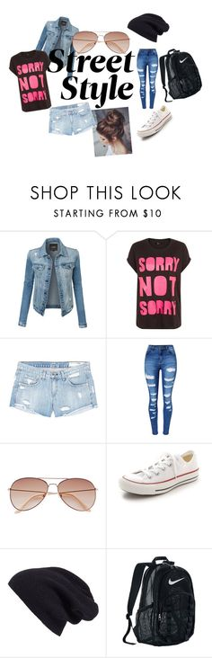"""Casual"" by somemack ❤ liked on Polyvore featuring LE3NO, rag & bone/JEAN, WithChic, H&M, Converse, Halogen and NIKE"