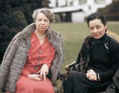 Eleanor Roosevelt and Madame Chiang Kai-shek