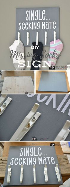 Check out the tutorial: #DIY Missing Socks Sign @istandarddesign