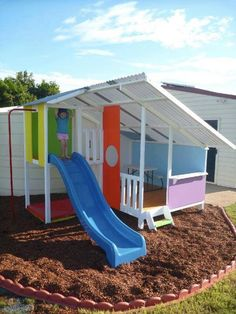 Looking For The Coolest Cubby Houses in Australia? Check Out Our DIY Kit Cubby Houses and Kids Forts. Kids Outdoor Play, Outdoor Play Spaces, Kids Play Area, Backyard For Kids, Outdoor Fun, Play Areas, Cubby House Kits, Kids Cubby Houses, Kids Cubbies