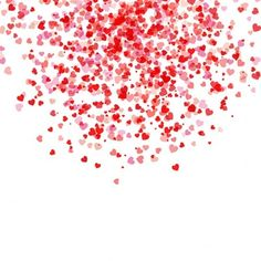 White background with hearts for valentine