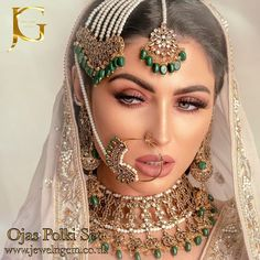 Image may contain: 2 people, closeup Bridal Makeup Looks, Indian Bridal Makeup, Asian Bridal, Indian Wedding Jewelry, Bridal Looks, Bridal Style, Wedding Makeup, Bridal Jewellery, Desi Wedding Dresses