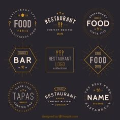 Vintage restaurant logos collection …
