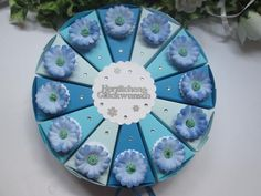 Gastgeschenke - Kleine Torte, Geschenktorte Blumen zum Geburtstag - ein Designerstück von Deko-Ideenreich bei DaWanda