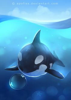 starting this year off with an aquatic theme! mini whale c: