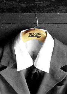 """Mustache """"groom"""" clothes hanger, Great photo prop!"""