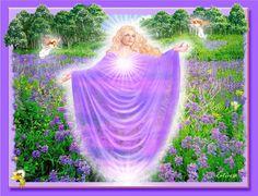 Angel Art - Violet Flower Angel