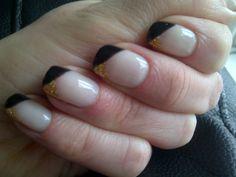 subtle black and gold tips