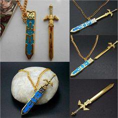 Legend of Zelda Removable Master Sword Necklace Anime Necklace, Sword Necklace, Locket Necklace, Pendant Necklace, The Legend Of Zelda, Legend Of Zelda Breath, Fashion Jewelry Necklaces, Fashion Necklace, Izuku Midoriya Cosplay