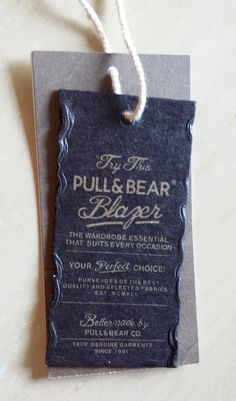 Pull & Bear #hangtag They MUST come to canada!!! Pull and bear love!