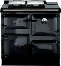 my shiny new black gas rayburn has pride of place in the kitchen