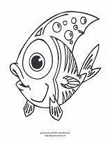 "Free Fish Coloring Pages - and everything else ""Under the Sea"". Color dolphins, shrimp, octopus, crabs, shells, eels and more..."