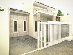 Simple Minimalist Yet Charming House Fence Design Ideas - CasaNesia House Fence Design, Tiny House Design, Wall Design, Minimal Home, Home Fencing, Er6n, Pallet Furniture Plans, Suburban House, Outdoor Living Rooms