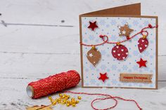 We love a bit of bunting, so why not incorporate it into your card making at Christmas with some bauble bunting?