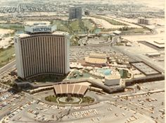 Las Vegas Hilton Ariel view 1975 www.all-chips.com has chips forsale from here and hundreds of other casinos. Very user friendly website! Thousands of real Casino Chips used in all the casinos...