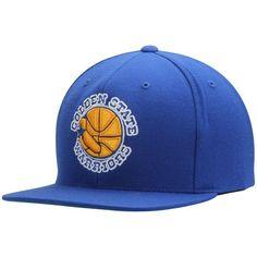 Golden State Warriors Mitchell   Ness Hardwood Classics Basic Logo Snapback  Adjustable Hat - Royal 0c4e133c507