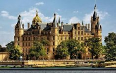 Schwerin castle in Germany