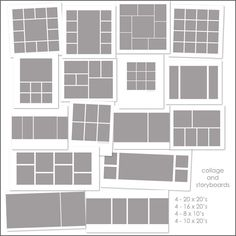 Use these templates to organize your frames onto the wall :) Just insert framed pictures!