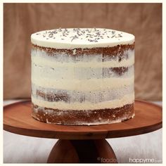 This cake was the inspiration for a very special kitchen tea bridal shower cake for a friend of mine. Her theme was rustic & lavender, so this Earl Grey Tea Semi Naked Cake with Lavender Swiss …