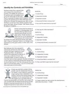Printables Identifying Variables Worksheet worksheets and writing on pinterest scientific method pdf