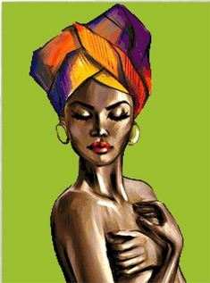 BUY 2 GET 1 FREE! Beautiful African Lady 008 Cross Stitch Pattern Counted Cross Stitch Chart Pdf For