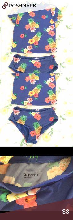 Gap pineapple flowers rash guard and swim bottoms Gap pineapple flowers rash guard and swim bottoms GAP Swim Rashguards