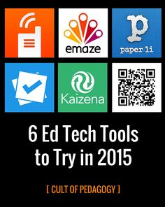 6 Ed Tech Tools to Try in 2015: A thoughtful selection of new-ish tools you can use to improve classroom discussions, enhance formative assessment, teach higher-level thinking skills, and improve the feedback you give your students. Each tool is clearly explained and includes a demo video to show you how it works.
