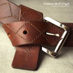 кожаный ремень на узел