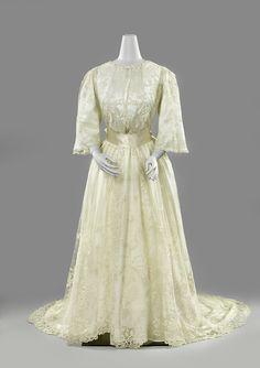 Wedding dress ca. 1889-92 From the Rijksmuseum